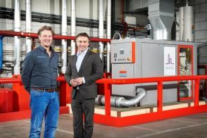 Daan Sweegers (L) en Jan van Hout